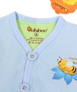 Sơ sinh-Áo ghi lê màu cotton 2 lớp BABIBOO - BB53